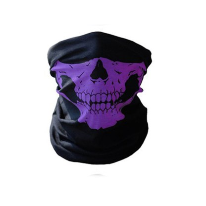 Biker Skeleton Skull Face Mask BMX Face Snood Face Mask Ski Bandana