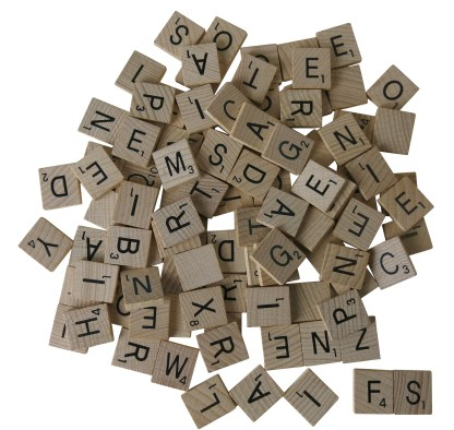 Wooden Pick and Mix Scrabble Tiles