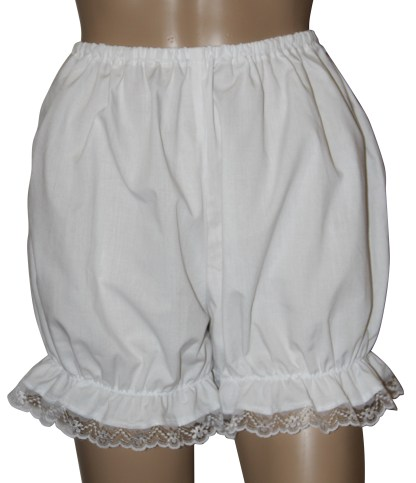Victorian / Edwardian Bloomers With Lace Trim Fancy Dress Steampunk Pantaloons