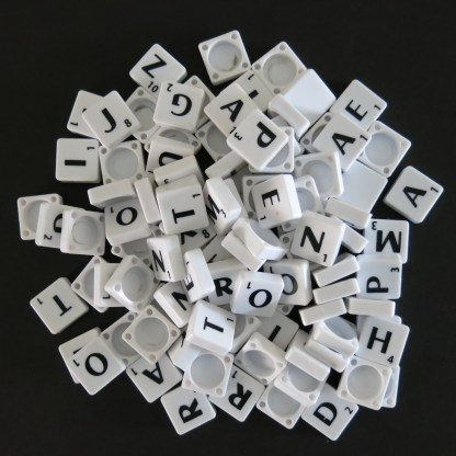 White Pick and Mix Scrabble tiles