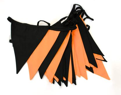 10m Halloween double sided fabric bunting
