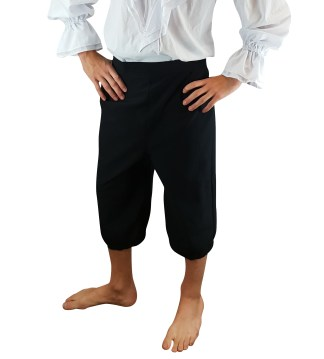 Mens Pirate Breeches 3/4 Length Trousers