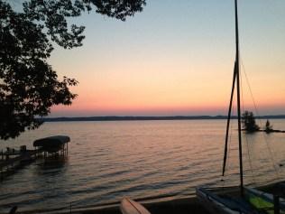 Sunset on Torch Lake