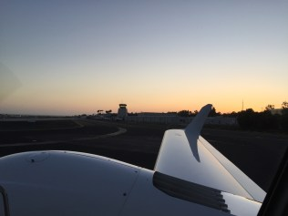 Evening flight to burn off fuel