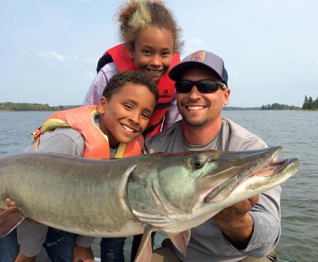 Muskie with Kids Fishing