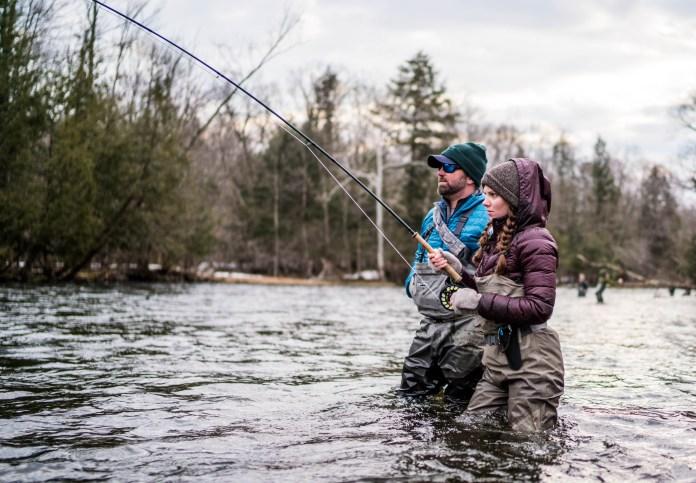 Fighting Salmon River Steelhead