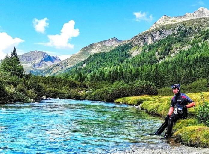 Snorkeling Italian Alps