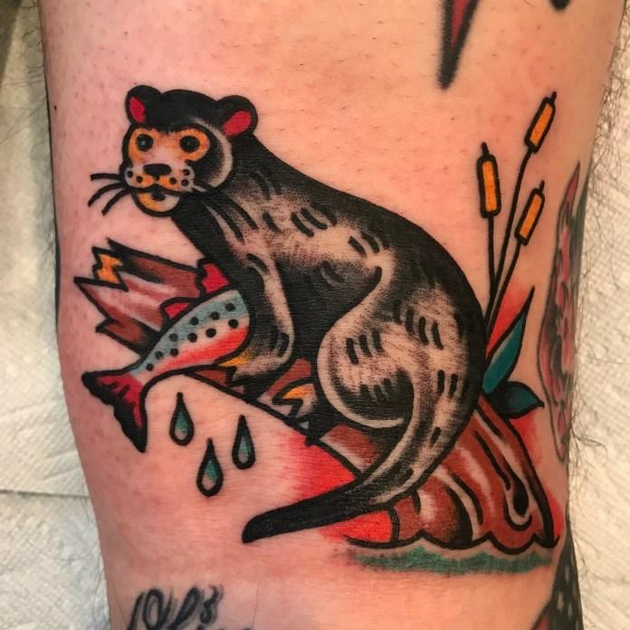 santoro otter tattoo