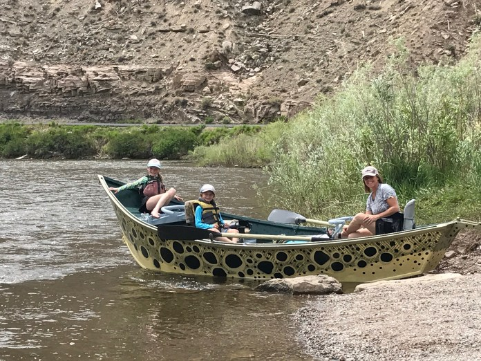 First float for the owner's family on the Colorado River.