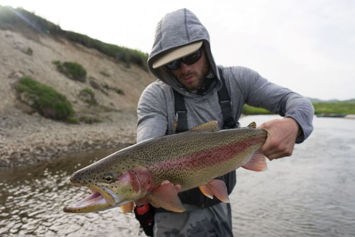 alaska fly fishing guide remote rainbow trout