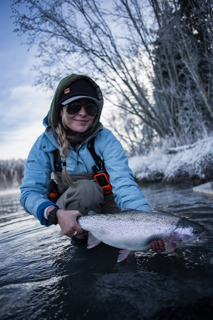 alaska fly fishing rainbow trout winter