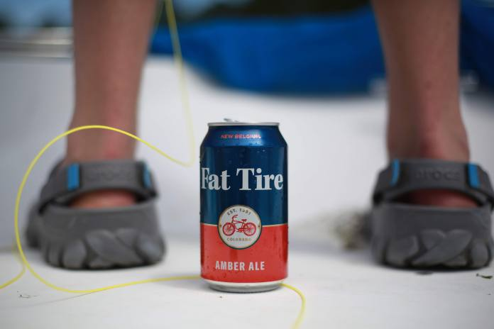 Fat Tire beer and fly line