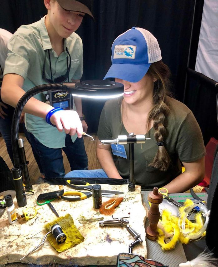 trade show fly tying