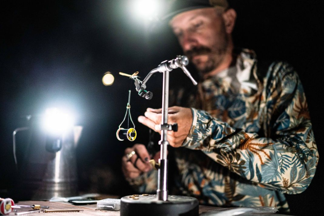 tying flies in the dark