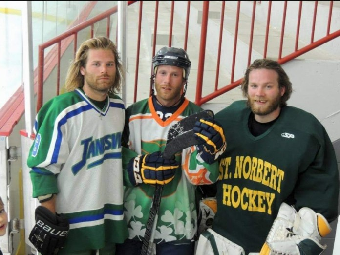 O'Pros brothers playing hockey