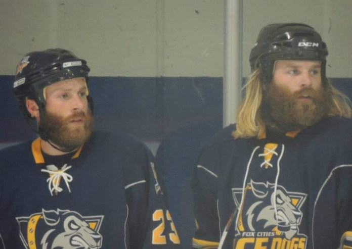 Bearded brothers on the ice