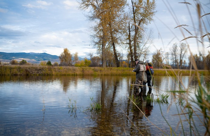 Denny and Erin Fishing in Missoula