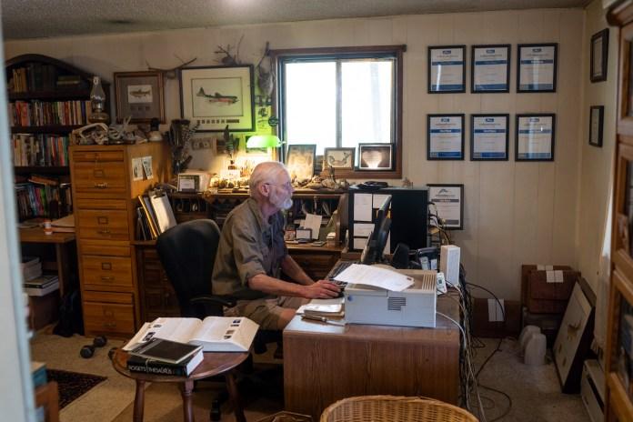 john at his writing desk