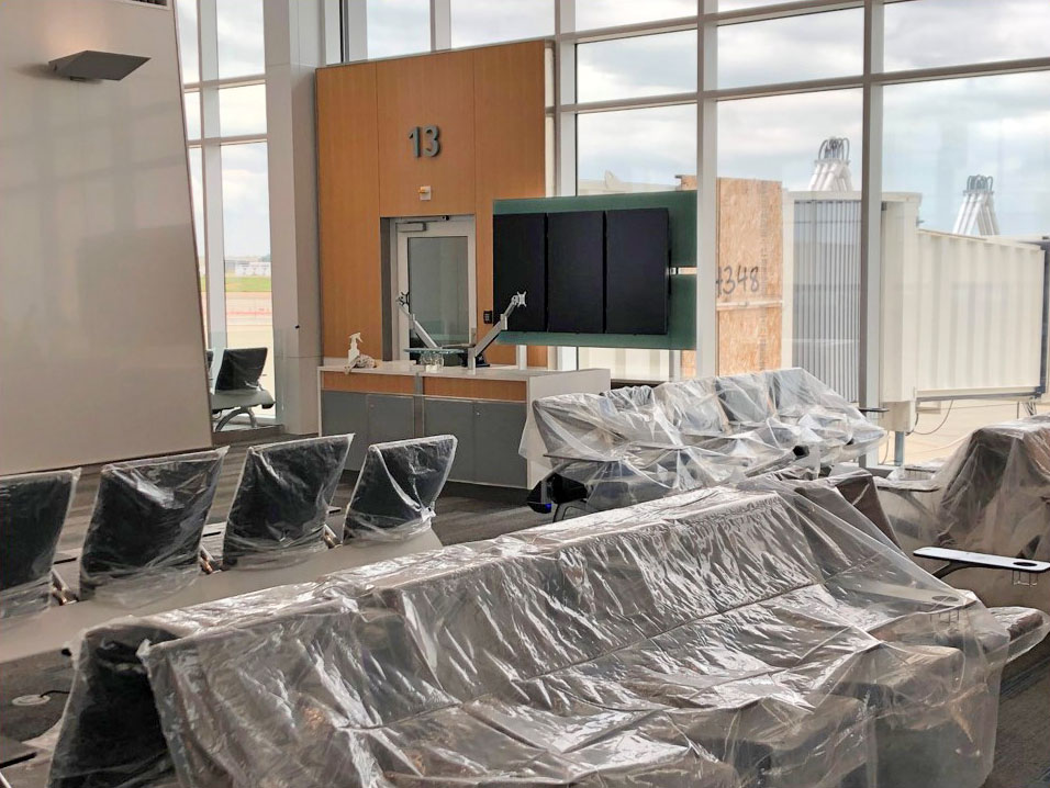 May 2021 B Concourse Digital Display Install