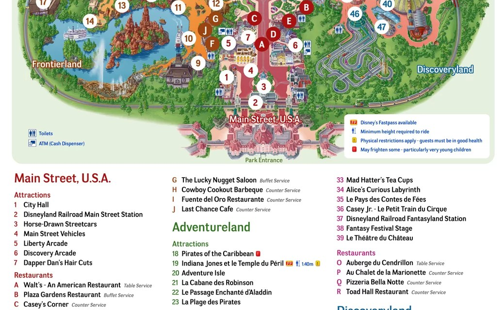 disneyland paris park map 2020