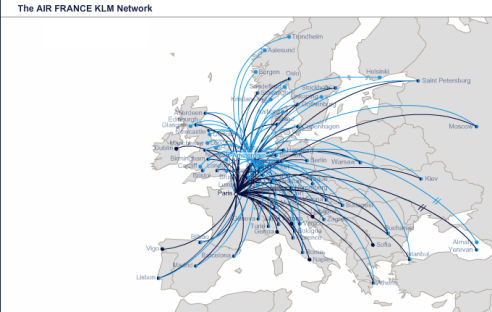 Flying Blue's Europe Route Map