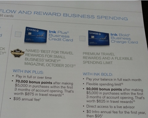 Chase Ink 70,000 Point Sign Up Bonus!