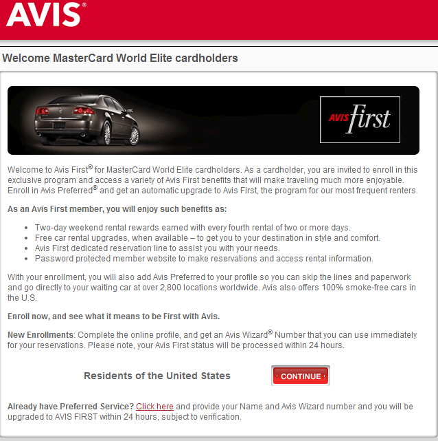 Free Elite Avis First Status & Free National Emerald Status