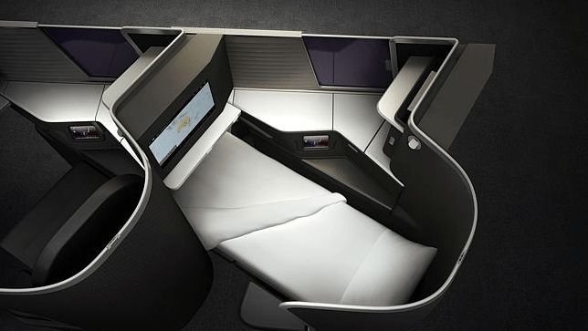 Virgin Australia's new lie-flat business class seats