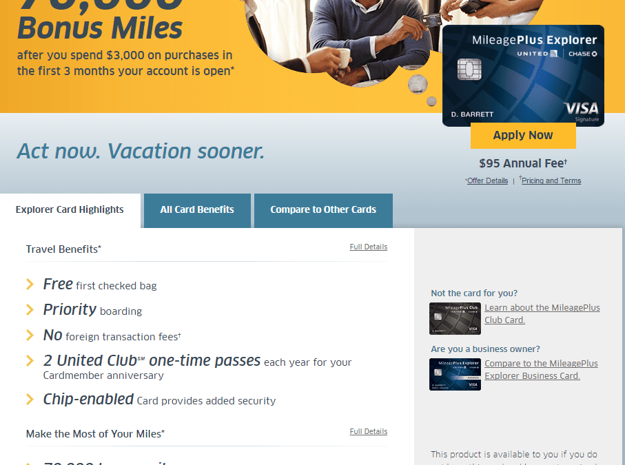 United MileagePlus 75,000 Point Bonus (Targeted)
