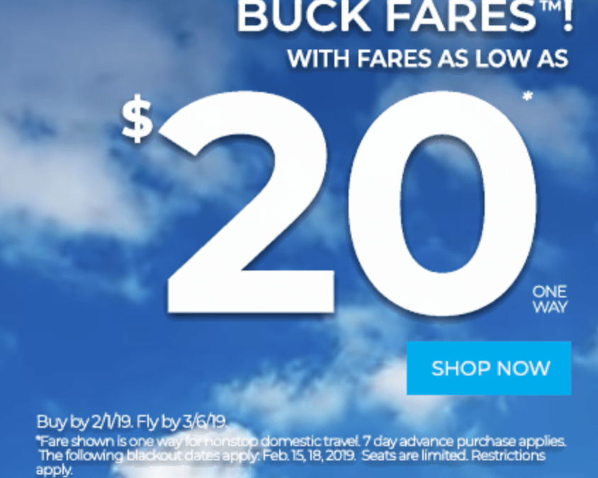 Frontier Airlines Sale: Fly Across the US for $19 One Way