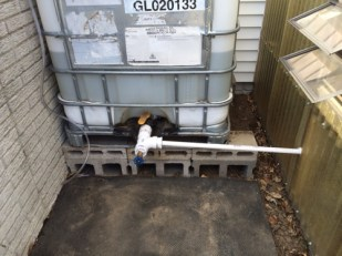 """2"""" PVC pipe with hose end"""