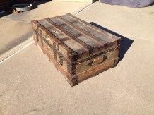 Steamer Trunk to Wood Box