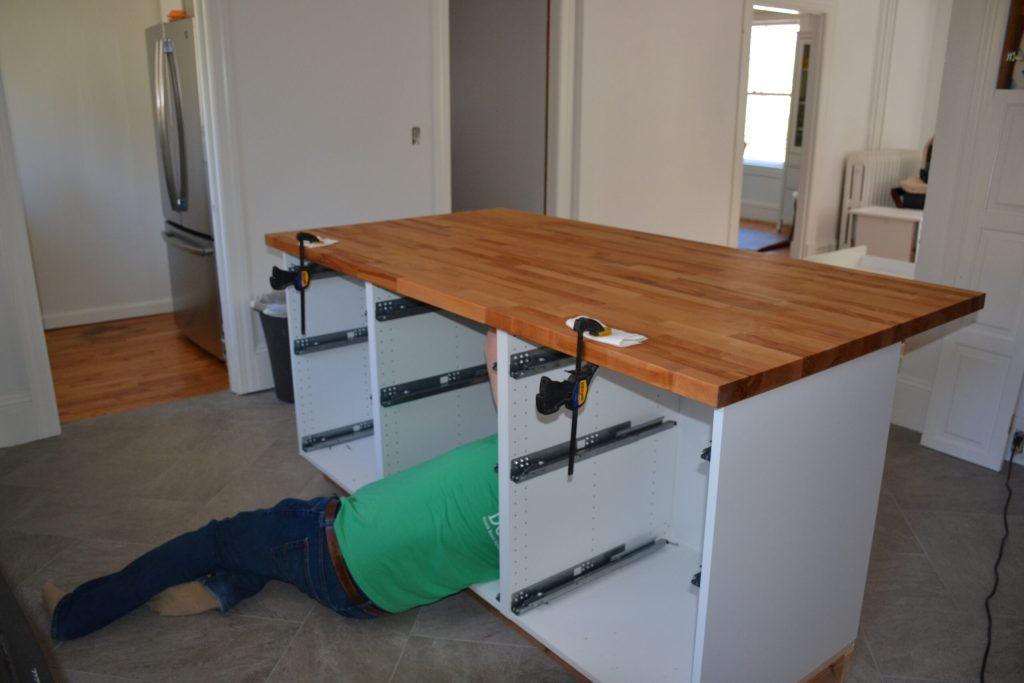 Kitchen Island Using Ikea Base Cabinets, Diy Kitchen Island Using Ikea Cabinets