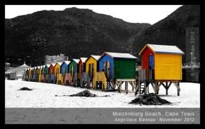 Muzenburg's colourful beach huts