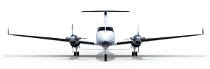 King air graphic head on