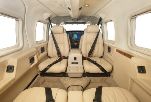 interior of cessna piper seneca
