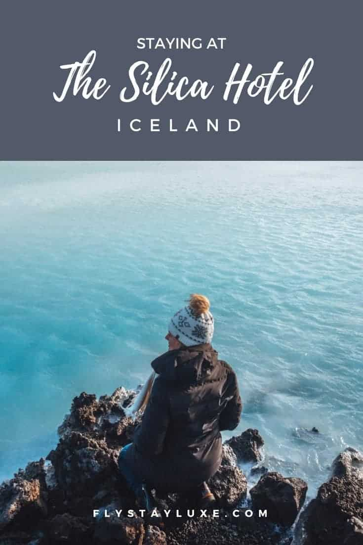 Pinterest article pin for The Silica Hotel at The Blue Lagoon, Iceland