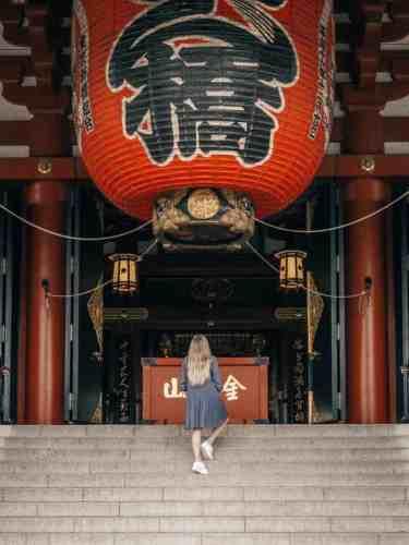 Massive lantern at Senso-Ji Temple in Tokyo