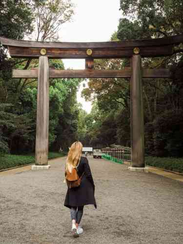 Entrance to the Meiji Shrine in Tokyo