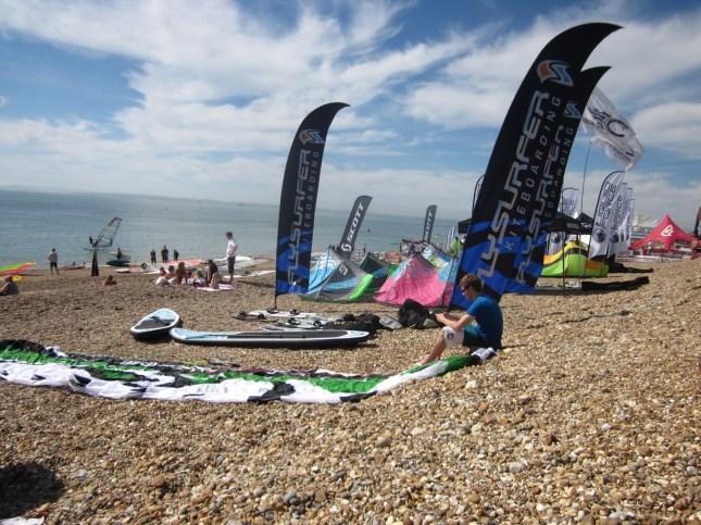 Flysurfer set up at National Watersports Festival 2012