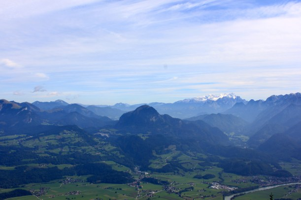 The spectacular view from the Roßfeld Panorama straße in Berchtesgaden.