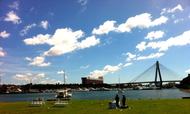 A perfect setting for a Sunday wedding. Love.