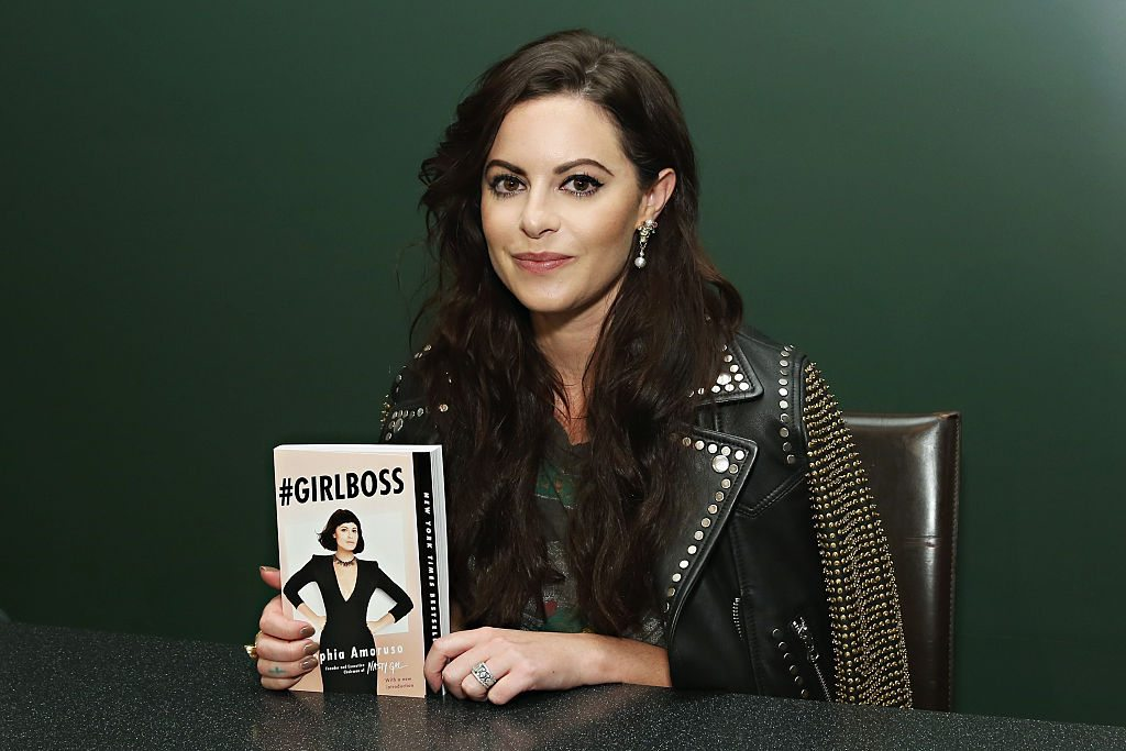 NEW YORK, NY - SEPTEMBER 29: Nasty Gal Founder/ author Sophia Amoruso attends Sophia Amoruso's launch event for the paperback of #GIRLBOSS, in conversation with Amy Astley, EIC of Teen Vogue at Barnes & Noble Union Square on September 29, 2015 in New York City. (Photo by Cindy Ord/Getty Images for Sophia Amoruso)