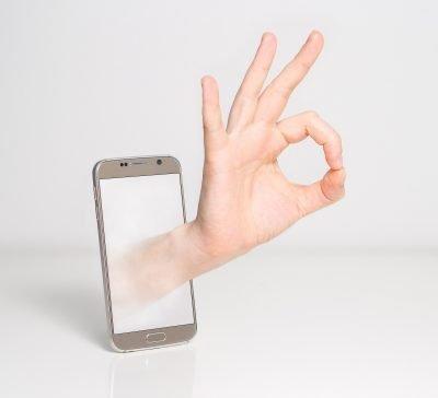"""Hand indicating """"O.K."""""""