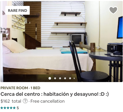 Airbnb Private Room from Search Example