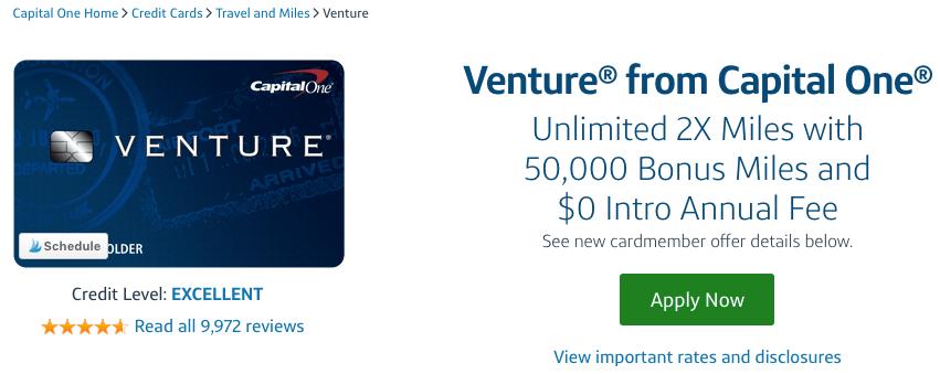 Capital One Venture Application