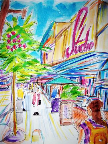 forrest_vancouver_bc_granville_street_ink_watercolor_11x15