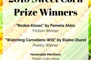 Fiction Winner: Pamela Akins; Poetry Winner: Elaine Olund