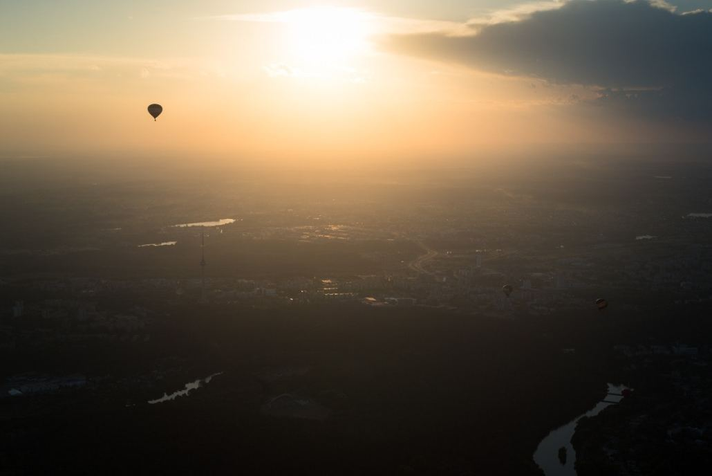 Oro balionas virš Vilniaus