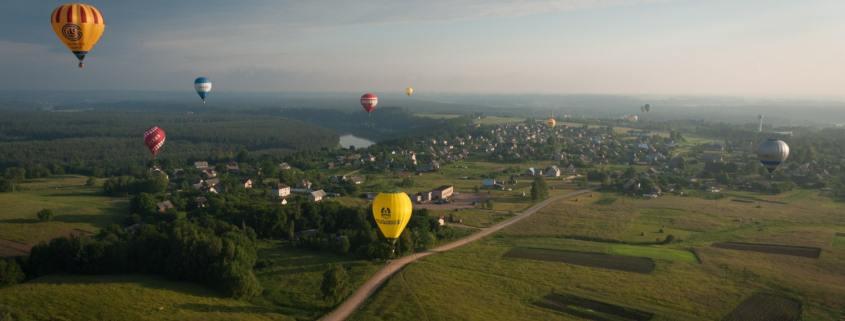 Karšto oro balionai virš Birštono